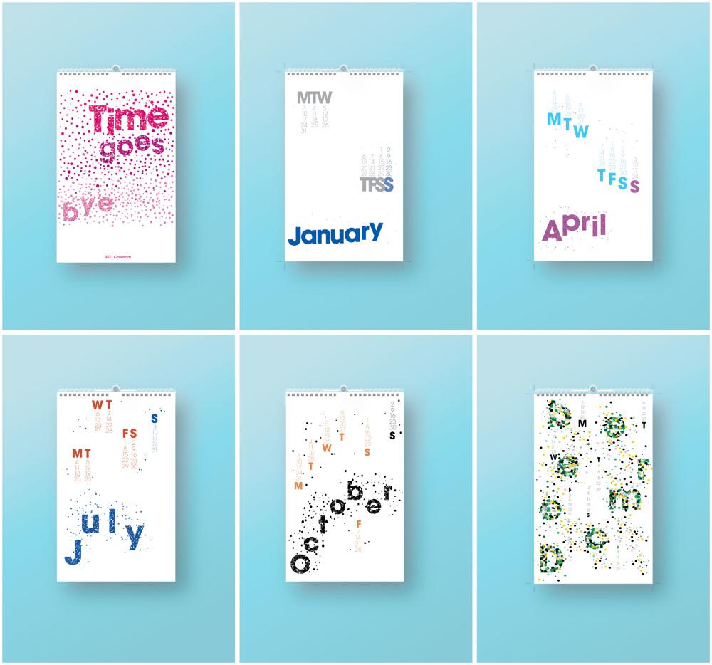 typographic calendar betsy escobar design portfolio