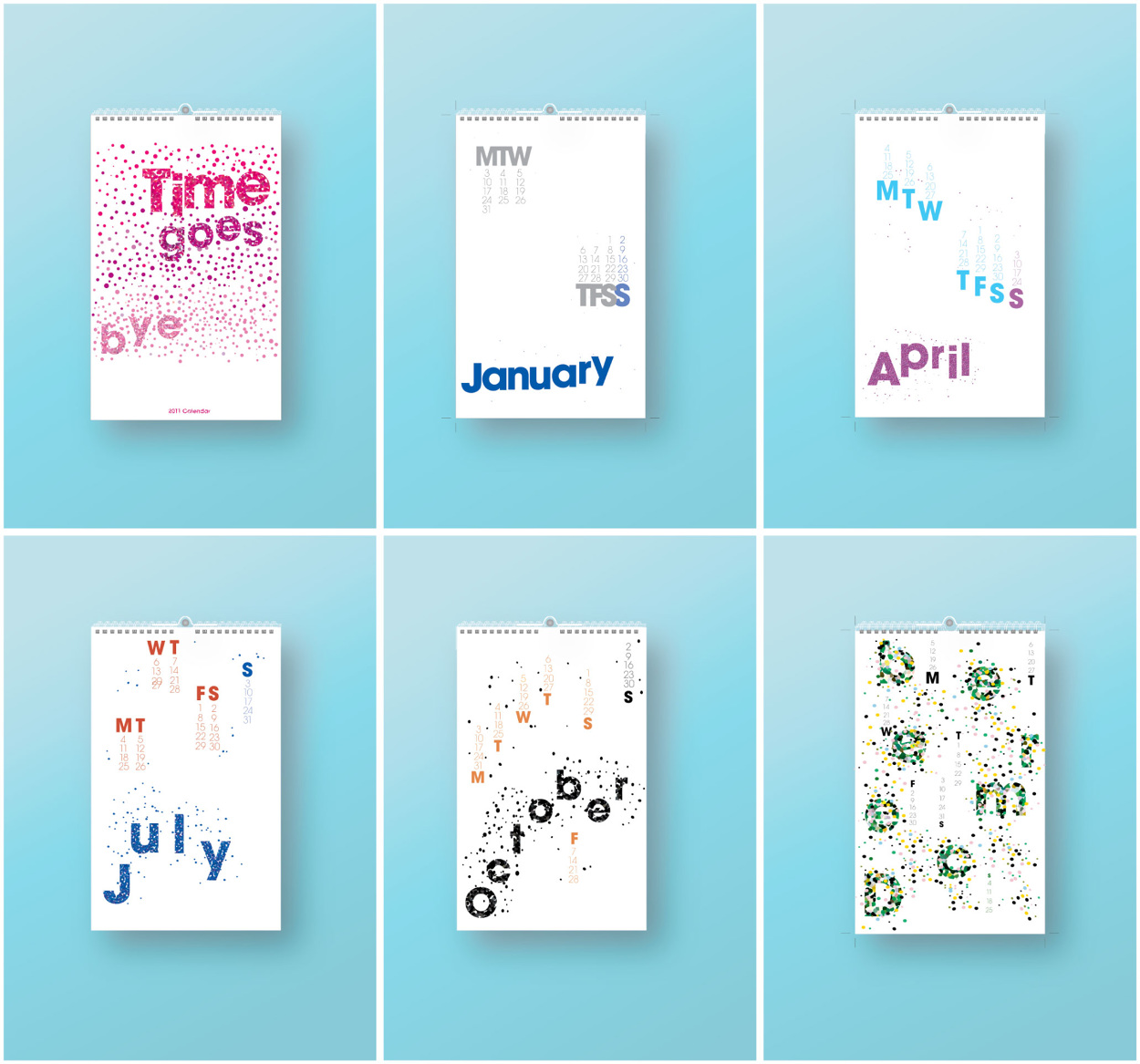 Calendar For Typography Nerds : Typographic calendar betsy escobar design portfolio