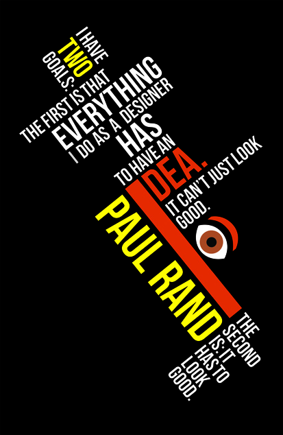 Paul Rand Graphic Design Quotes