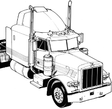 Gallery For gt Semi Truck Line Drawing